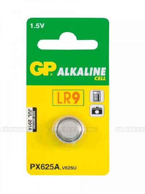 Baterie alkalická GP 625A ALKAL, LR9, 1.5V, 190mAh, B1325