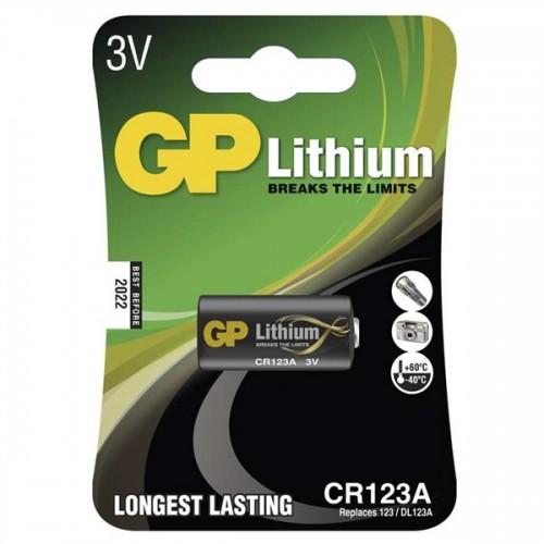 Baterie lithiová GP CR123A, blistr 1ks
