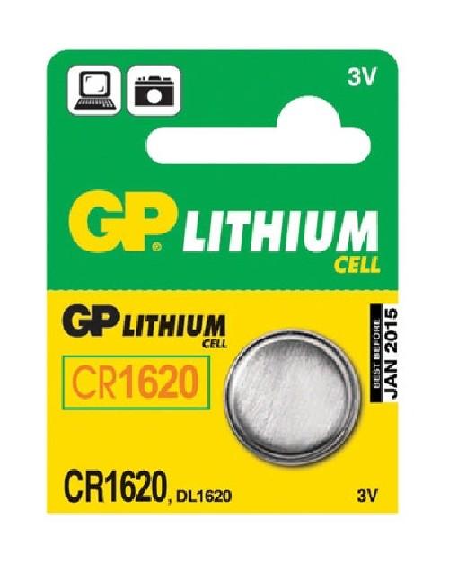Baterie lithiová GP CR1620, blistr 5ks