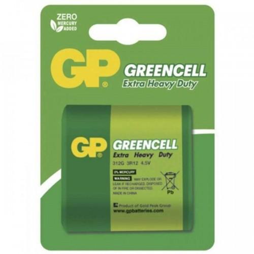 Baterie zinkochloridová GP Greencell 4,5V, blistr 1ks