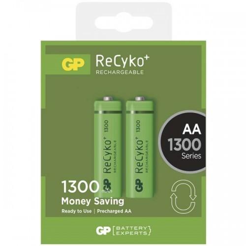 Baterie nabíjecí GP ReCyko+ AA, HR6, 1300mAh, Ni-MH, krabička 2ks