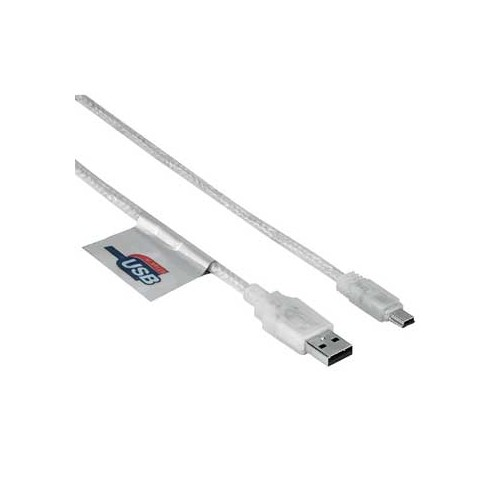 Kabel Hama USB / MiniUSB, 1,8m - bílý