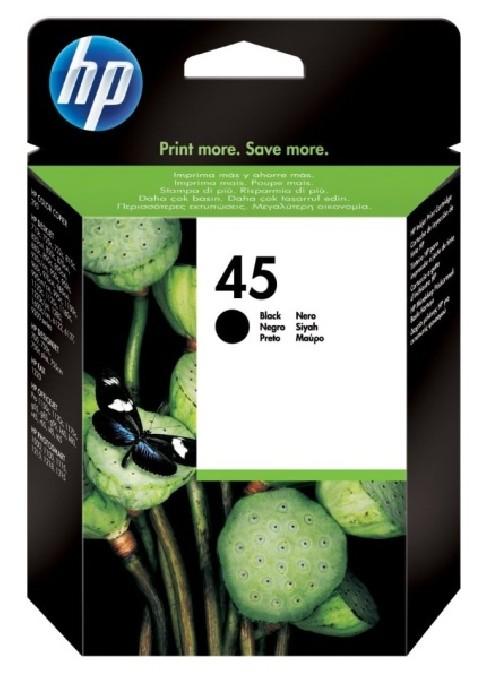 Inkoustová náplň HP 45, 930 stran - černá