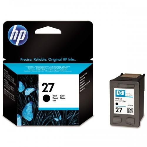 Inkoustová náplň HP 27, 280 stran originální - černá
