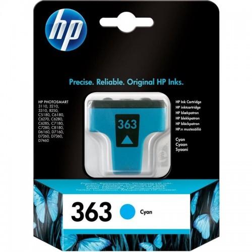 Inkoustová náplň HP 363, 4ml, 350 stran originální - modrá