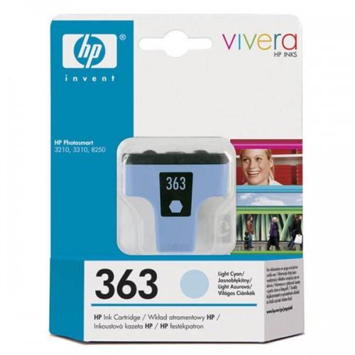 Inkoustová náplň HP 363, 5,5ml - světle modrá originální