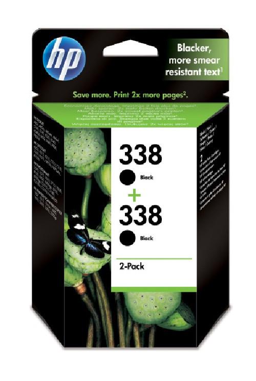 Inkoustová náplň HP 2x 338, 960 stran originální - černá
