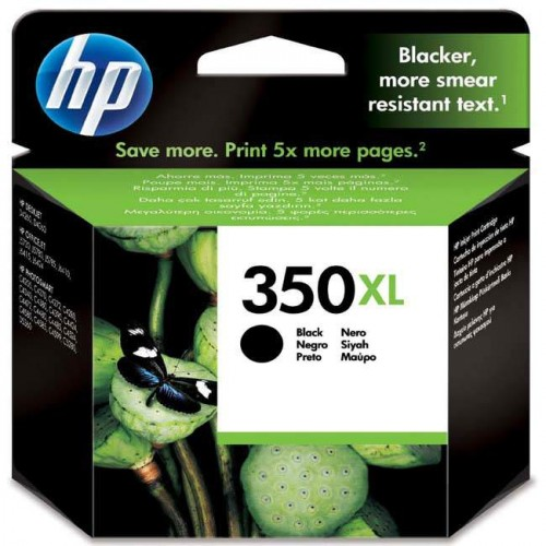 Inkoustová náplň HP Officejet 350XL, 1000 stran, originální - černá