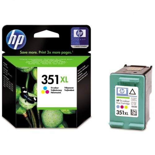 Inkoustová náplň HP No. 351XL, 14 ml originální - červená/modrá/žlutá