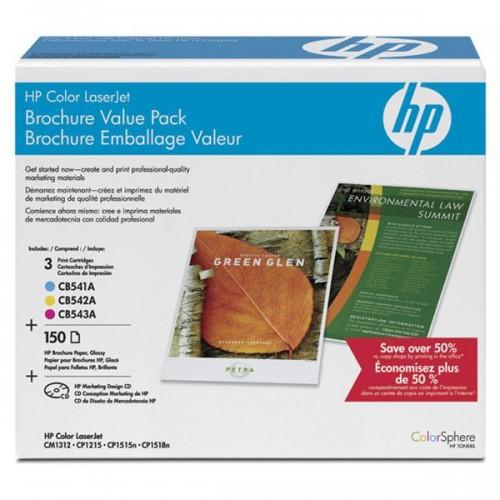 Toner HP CB542A, 1400 stran originální - žlutý