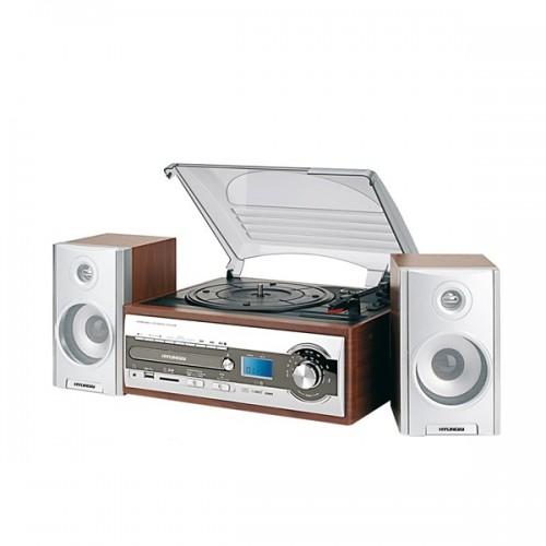 Mikrosystém Hyundai RTC 182 SU RIP s gramofonem, stříbrný
