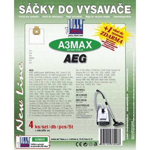 Sáčky do vysavače Jolly MAX A 3 (4+1ks) do vysav. AEG