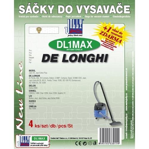 Sáčky do vysavače Jolly MAX DL 1 (4ks) do vysav. DE LONGHI