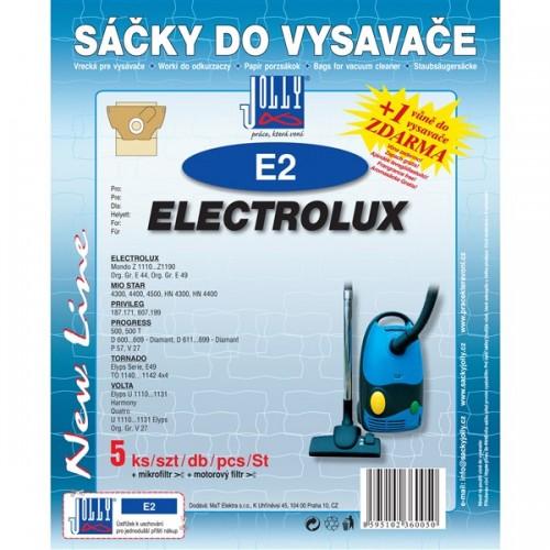 Sáčky do vysavače Jolly E 2 (5+1+1ks) do vysav. ELECTROLUX