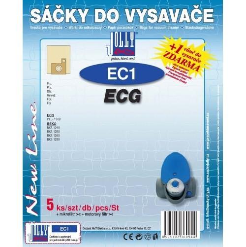 Sáčky do vysavače Jolly EC1 (5+1+1ks) do vysav. ECG, BEKO