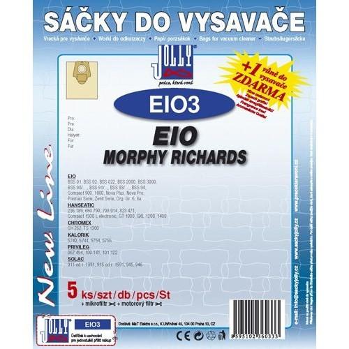 Sáčky do vysavače Jolly EIO 3 (5+1+1ks) do vysav. EIO, MORPHY RICHARDS