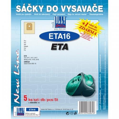 Sáčky do vysavače Jolly ETA 16 (5+1ks) do vysav. ETA