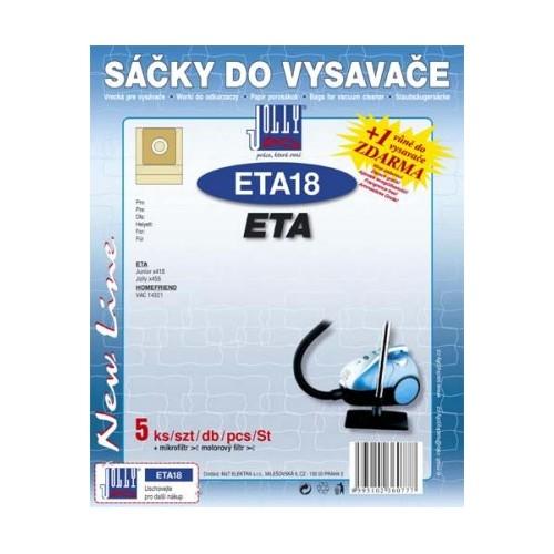 Sáčky do vysavače Jolly ETA 18 (5+1+1ks) do vysav. ETA