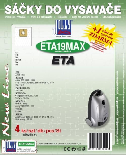 Sáčky do vysavače Jolly MAX ETA 19 (4ks) do vysav. Eta, Rowenta