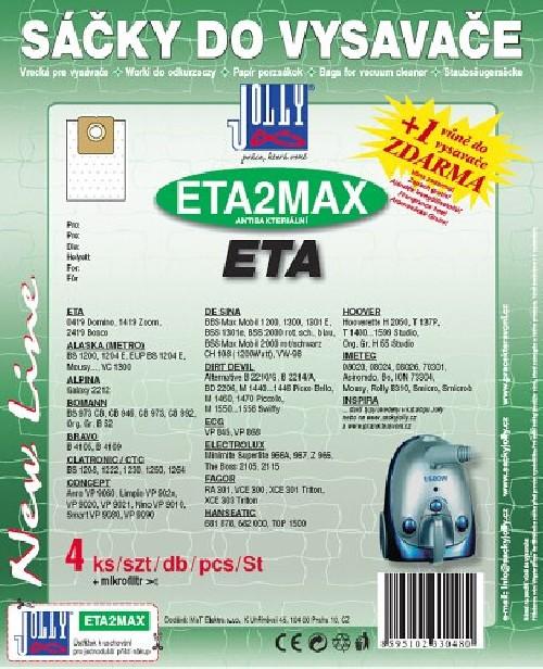 Sáčky do vysavače Jolly MAX ETA2 (4+1ks) do vysav. ETA