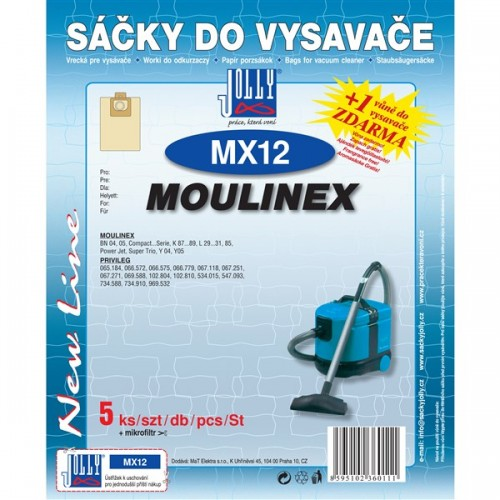 Sáčky do vysavače Jolly MX 12 (5ks) do vysav. MOULINEX