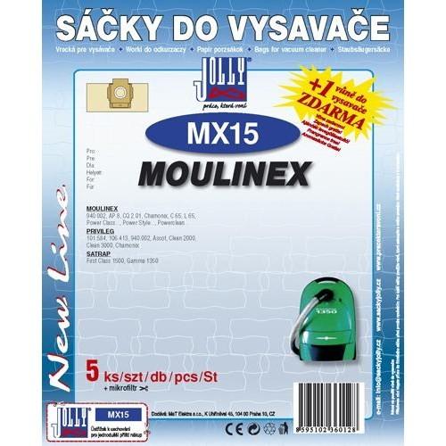 Sáeky do vysavaee Jolly MX 15 (5+1ks) do vysav. MOULINEX