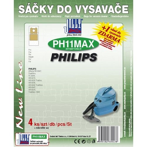 Sáčky do vysavače Jolly MAX PH 11 (4+1ks) do vysav. PHILIPS
