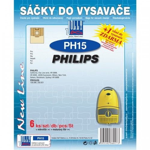 Sáčky do vysavače Jolly PH 15 (6+1+1ks) do vysav. PHILIPS