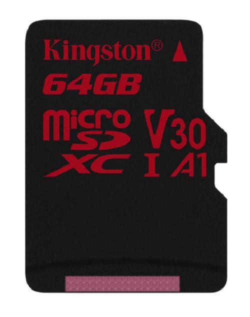 Paměťová karta Kingston Canvas React microSDXC 64GB UHS-I U3 (100R/80W)