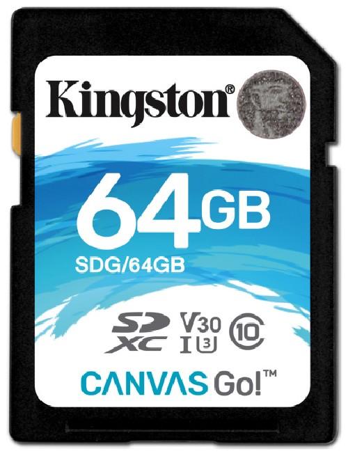 Paměťová karta Kingston Canvas Go! SDXC 64GB UHS-I U3 (90R/45W)