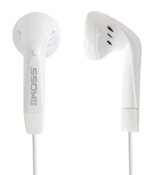 Sluchátka Koss KE/5 W (doživotní záruka) - bílá