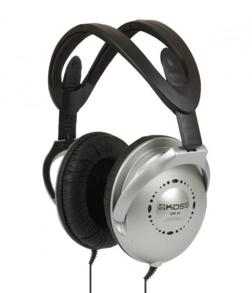 Sluchátka Koss UR 18 (doživotní záruka) - černá/stříbrná