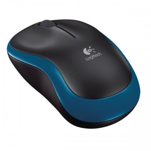 Myš Logitech Wireless Mouse M185 / optická / 3 tlačítka / 1000dpi - modrá