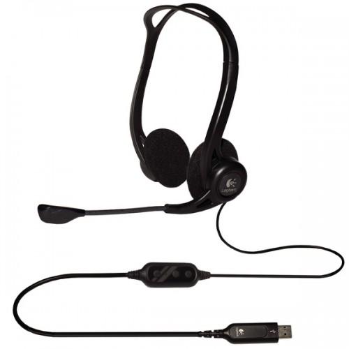 Headset Logitech 960 USB - černý