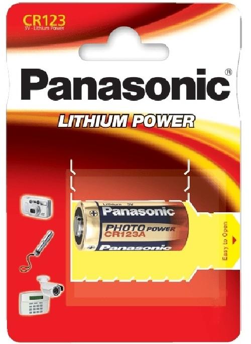 Baterie lithiová Panasonic CR123A, blistr 1ks