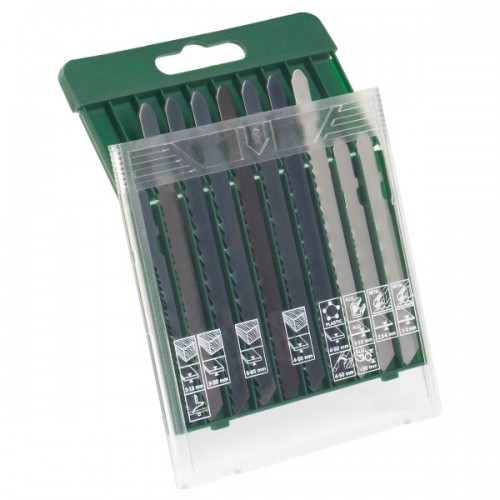Sada pilových plátků Bosch 10 dílná  dřevo/kov/plast (T-stopka)