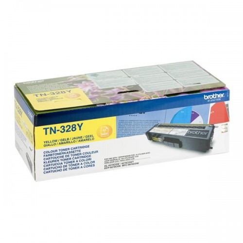 Toner Brother TN-328Y, 6000 stran originální - žlutý