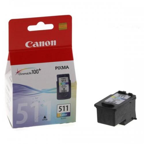 Inkoustová náplň Canon CL-511C, 240 stran, CMY, originální