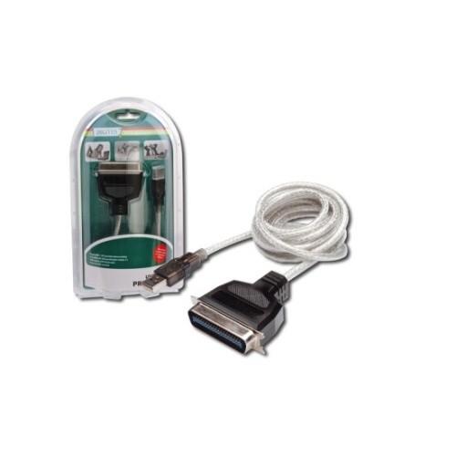 Kabel Digitus USB / LPT (Tiskárna), 1,8m - bílý