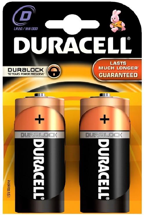 Baterie alkalická Duracell Basic D, LR20, 1.5V, blistr 2ks