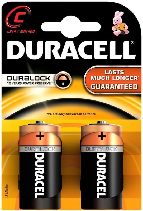 Baterie alkalická Duracell Basic C, LR14, 1.5V, blistr 2ks
