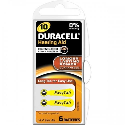 Baterie do naslouchadel Duracell Duralock DA10, blistr 2ks