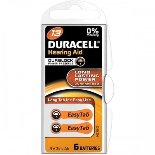 Baterie do naslouchadel Duracell Hearing Aid 13, PR48, 1.45V, blistr 2ks