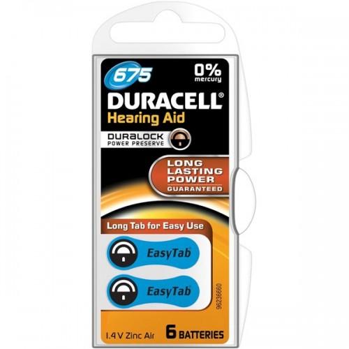 Baterie do naslouchadel Duracell DA675 P6 Easy Tab