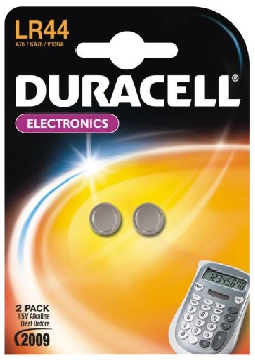 Baterie alkalická Duracell LR44 (76A / A76 / V13GA), 1.5V, blistr 2ks