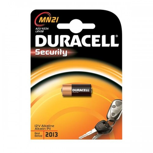 Baterie alkalická Duracell MN21 (A23 / 23A / V23GA / LRV08 / 8LR932), 12V, blistr 1ks