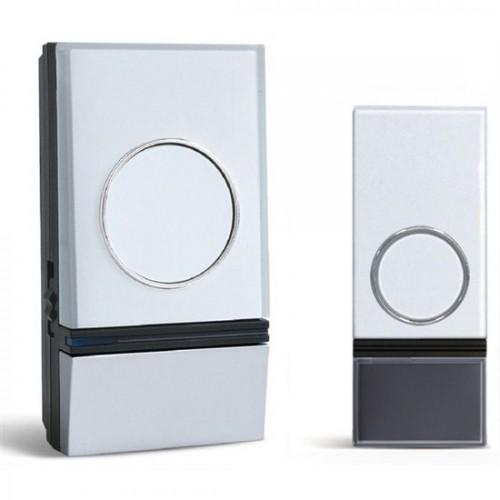 Zvonek bezdrátový Solight 1L28, do zásuvky, 200m - stříbrný/bílý