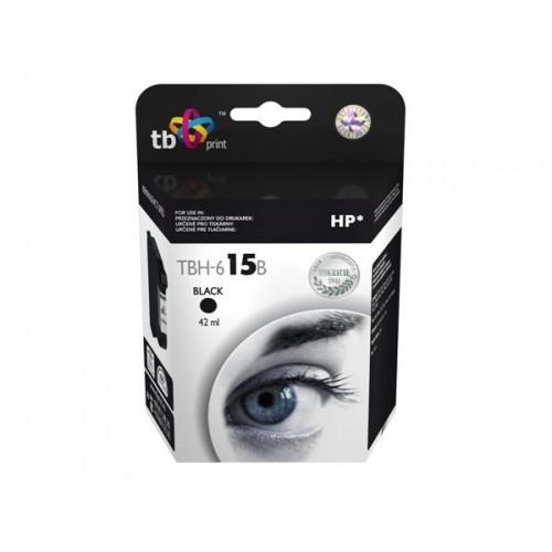 Inkoustová náplň TB HP C6615DE (No.15) Bk kompatibilní - černá