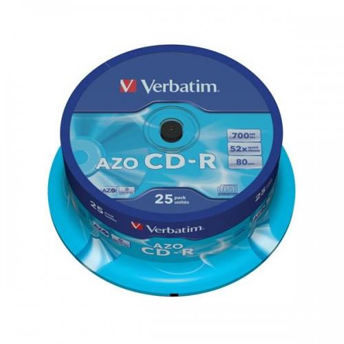 Disk Verbatim CD-R 700MB/80min. 48x, Crystal, 25cake