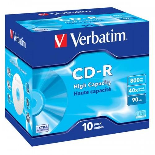 Disk Verbatim CD-R 800MB/90min, 40x, Extra Protection jewel box, 10ks